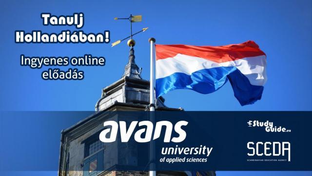 Avans University of Applied Sciences online előadás - Tanulj Hollandiában Napok