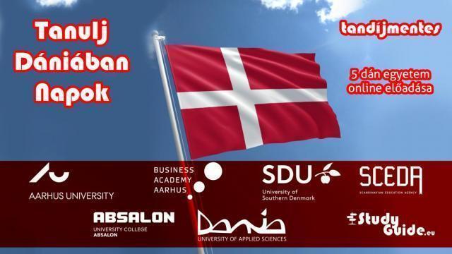 Tanulj Dániában napok - 3 dán egyetem online előadása - díjmentes részvétel